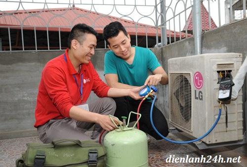 nạp gas điều hòa tại quận cầu giấy